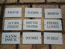 PLAQUE SIGNALETIQUE EMAILLEE Textes divers GARANTI EN EMAIL VERITABLE FAB.FRANCE