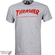 "Thrasher magazine ""skate mag logo"" skateboard t-shirt gris s m l xl ou xxl"