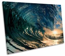 Onda De Playa Surf Single Lona estrellarse Pared Arte Impresión Foto