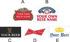 Personalizzate Bottiglia Di Birra Vinile Etichette per per fare birra acasa