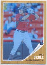 JAKE SKOLE 2011 TOPPS HERITAGE MINOR LEAGUE BLUE TINT #61 CARD 044/620 RANGERS