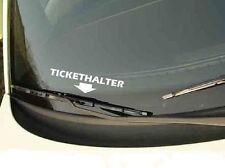 Tickethalter 15cm x 3,7cm Aufkleber Fun Sticker Strafzettel freie Farbwahl