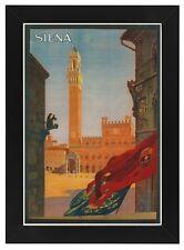 Tv33 vintage 1925 ITALIANO ITALIA SIENA Sienna viaggio incorniciato POSTER re-print A3 / A4
