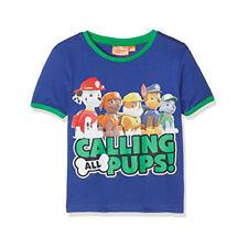 PAT PATROUILLE t-shirt 3 4 5 ou 6 ans bleu foncé manches courtes NEUF