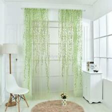 Leaves Print Tulle Voile Door Window Curtain Drape Panel Sheer New