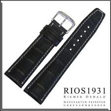 22x18 mm RIOS1931 for Panatime - Ocean Blue Thunderbird - Alligator Watch Band F