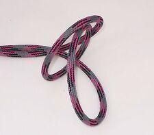 Textilkabel Stoffkabel - 2x0,75 und 3x0,75 - EU Produkt - Grau-Schwarz-Kirsch