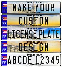 Puerto Rico Custom European License Plate