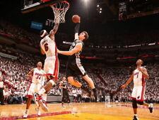 LeBron James Block Tiago Splitter Miami Heat Huge Giant Print POSTER Affiche