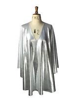 Baylis & Knight Silver plunge neck STUDIO 54 Glam 70's Bat Wing DISCO Dress