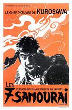 SEVEN SAMURAI Movie POSTER Rare Kurosawa Samurai Japanese