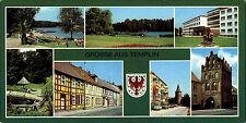 TEMPLIN Uckermark DDR Breitbild-AK ua. FDGB-Heim, Puschkinstrasse, Bürgergarten