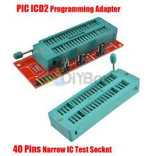 Pic Programming Adapter Pickit 2 Pickit 3 Programmer 40 Pin Seat Board Ic Socket