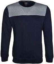 Hommes Uni Sweat-shirt à encolure ras-du-cou velours matériel à l'Intérieur de conception sur le devant Polaire Top
