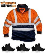 Standsafe HV033 HIGH VISIBILITY 2 TONE POLO LONG SLEEVE Orange FREE SOCKS