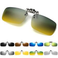 Polarized Clip On Flip Up Sunglasses Shades Clip for Myopia Glasses Unisex UV400