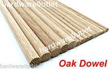 OAK DOWEL 2 Lengths @ 800 mm - 9 12 & 18mm Diameter  Wood Doweling Rod
