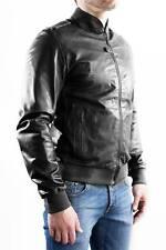 ★Giacca Giubbotto Uomo in di PELLE 100% Men Leather Jacket Veste Homme Cuir e7ah