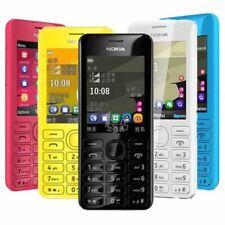 Unlocked Original Nokia 206 2060 Dual SIM MP3 1.3MP 2.4' Memory Card Black Phone