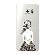 Coque transparente souple avec impression pour Samsung Galaxy S7 (Dos de fille)