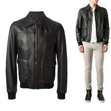 ★Giacca Giubbotto Uomo in di PELLE 100% Men Leather Jacket Veste Homme Cuir Y25