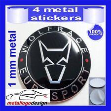 METAL STICKERS WHEELS CENTER CAPS Centro LLantas 4pcs WOLFRACE