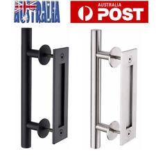 "12"" Barn Door Handle Sliding Flush Pull Wood Door Gate Hardware Stainless Steel"