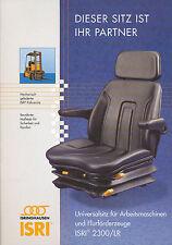 Isri 2300/LR  Prospekt Gabelstapler-Sitz 2002, 4 Seiten, brochure seat forklift