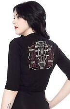 Sourpuss Johnny Cash Burning Thing Retro 50S Punk Pinup Cardigan Sweater S-3Xl