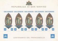 1977 Primi francobolli - San Marino - foglietto
