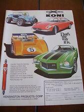 1971 KONI SHOCKS *ORIGINAL AD* DUNE BUGGY CAMARO Z28
