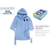 Accappatoio Disney Mickey Mouse Topolino bambino 12-18 18-24 mesi 100% cotone