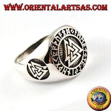 Anello in argento 925 ‰ Nodo di Odino con rune celtiche