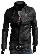 ★PELLE 100%★ Giacca Giubbotto in di Pelle Uomo Men Leather Jacket Veste Cuir 06p