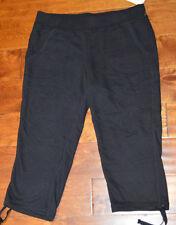 4b483d18afccb Women s Sonoma Black Slip On Elastic Waist Cropped Pants Sizes XS