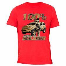 American Flag T-Shirt 4th of july clothes Fourth Army Patriot USA Tshirt Red