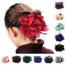 Haarklammer Haarclip Haarspange Haarschmuck Haar Blüten Lotusblume in 11 Farben