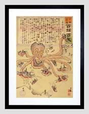 La GUERRA RUSSO GIAPPONESE BATTAGLIA NAVALE polpo Giappone Disegno Tentacle stampa b12x5821