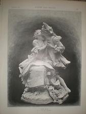 The Kiss Georges Van Der Straeten 1892 sculpture engraving print