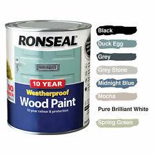 Ronseal 10 Year Weatherproof Wood Paint Satin Finish 750ml No Primer Needed