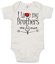 "GRACIOSO Body de bebé ""I LOVE MY BROTHERS This Much"" Body Bros"
