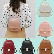 Women Girl Small Backpack PU Leather Rucksack Shoulder School Bag Travel Handbag