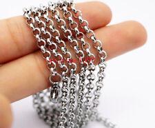 Lot in bulk Jewelry Findings Stainless Steel 2.5/3/4/6mm Rolo Chain Marking DIY