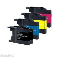 4x Cartuchos de inyección tinta compatible con Reemplazos para BROTHER LC1280XL,