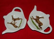 BN Hares Tea Bag Tidy, Hares Tea Bag Rest, Porcelain Ceramic Tea Bag Holder