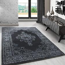 Klassiche orient Teppich Wohnzimmer,kurzflor gemustert Medaillon Barock Rot_0297