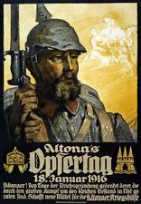 WA36 Vintage WWI German Altona's Opfertag War Fund Raising Poster WW1 A1 A2 A3