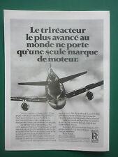 10/80 PUB ROLLS-ROYCE RB.211 AERO ENGINES PAN AM LOCKHEED L-1011-500 TRISTAR AD