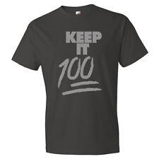 Street Wear Tee Keep it 100 Graphic Pro Club T Shirt  Mens Black