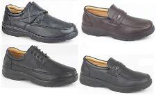Scimitar Men's Faux Leather Budget Smart Office Shoes Black Touch Lace Slip On